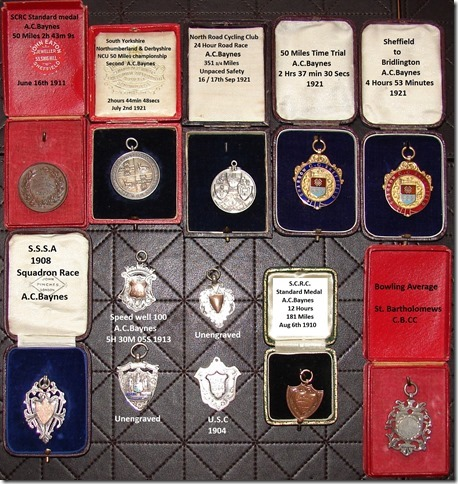 AC Baynes' medal collection